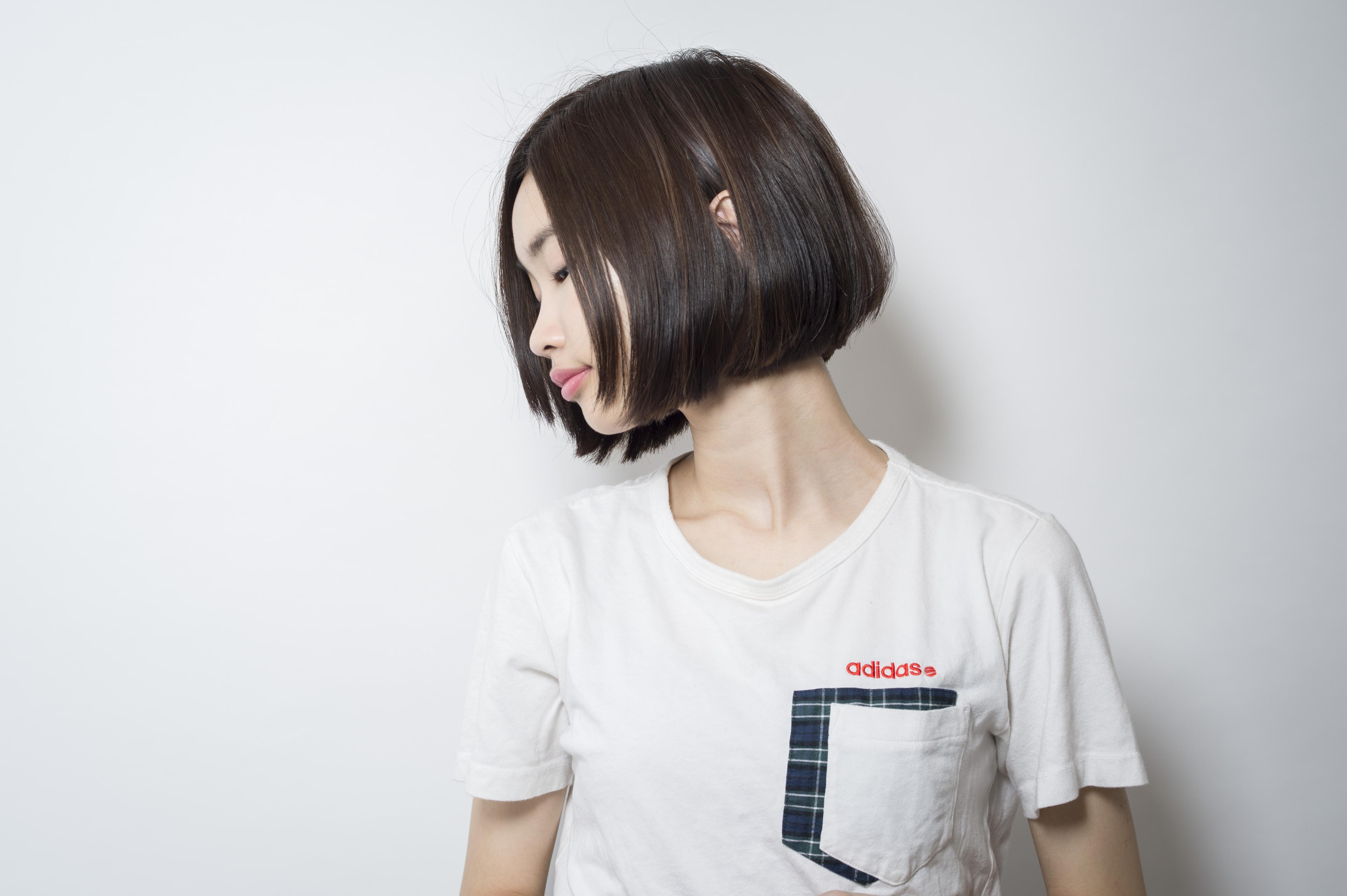 口コミで人気の自由が丘の美容室(ヘアアロン,美容院)keep hair designが提案する黒髪ワンレンボブヘアスタイル
