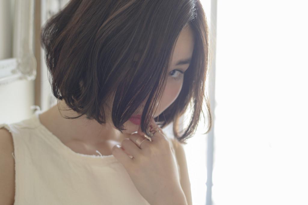 口コミで人気の自由が丘の美容室(ヘアアロン,美容院)keep hair designが提案する黒髪ゆるふわボブのヘアスタイル