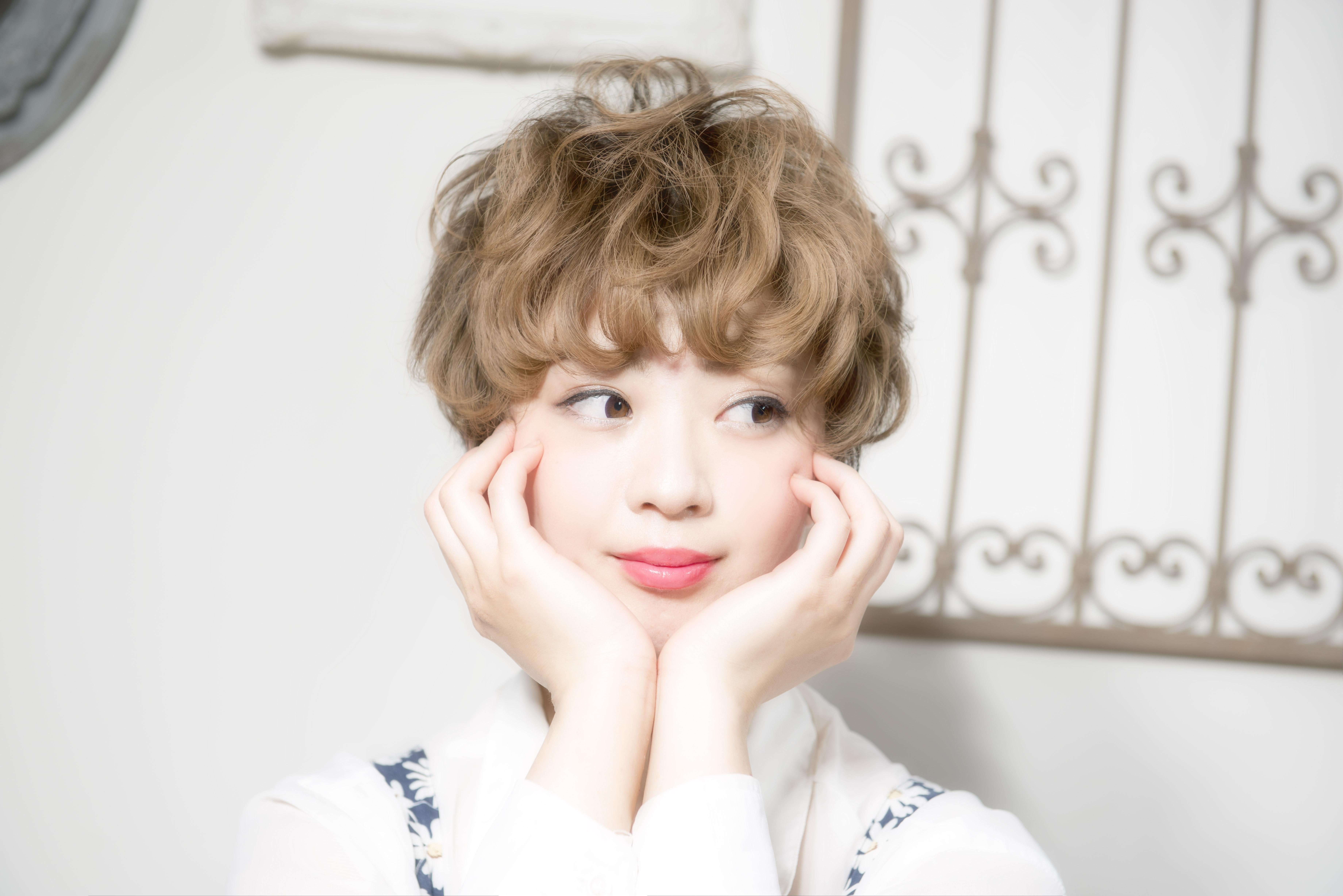 口コミで人気の自由が丘の美容室(ヘアアロン,美容院)keep hair designが提案するマッシュショートパーマスタイル