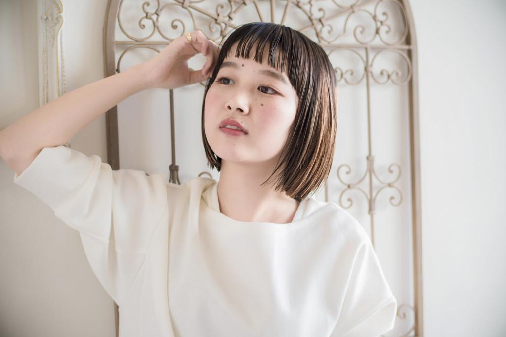 口コミで人気の自由が丘の美容室(ヘアアロン,美容院)keep hair designが提案するオーガニックシアバター使用ウェットな質感のボブスタイル
