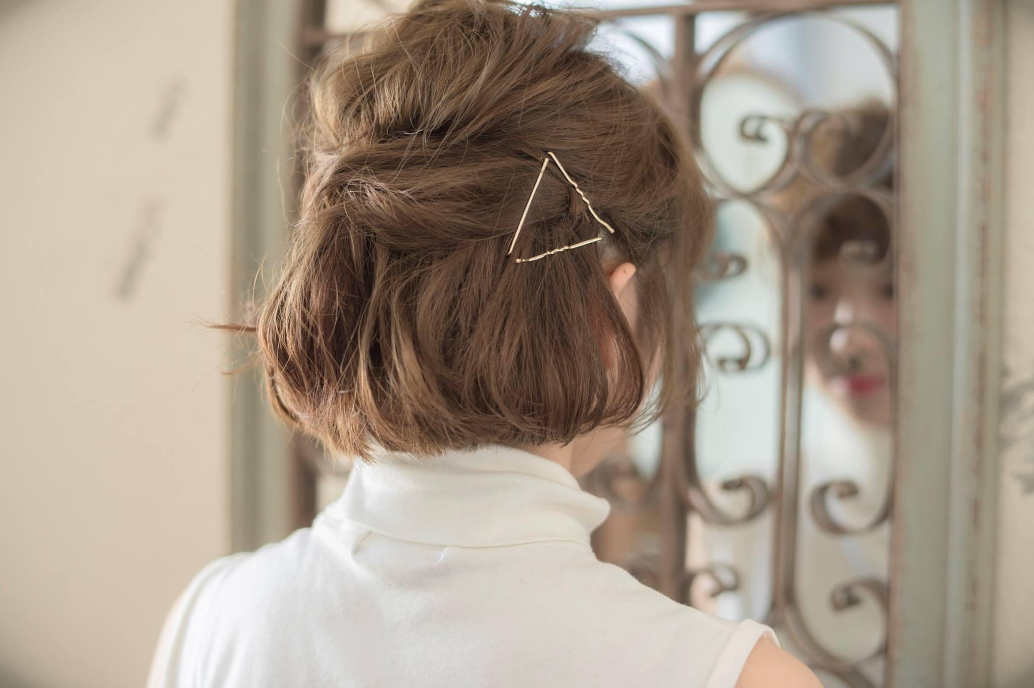 口コミで人気の自由が丘の美容室(ヘアアロン,美容院)keep hair designが提案するボブスタイルアメピンアレンジ