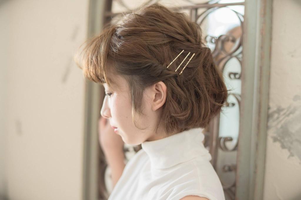 口コミで人気の自由が丘の美容室(ヘアアロン,美容院)keep hair designが提案するアシンメトリー編みこみアレンジ