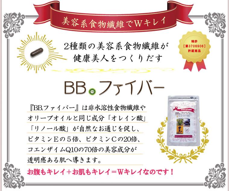 BB.ファイバーのプロアントシアニジン(OPC)は83%以上の高配合量です。